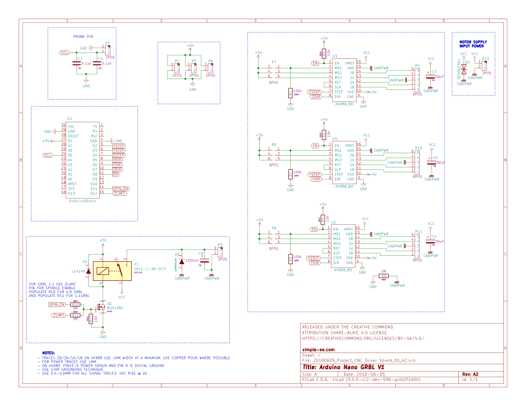 projects - grbl controller schematic